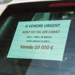 Annonce vente de voiture