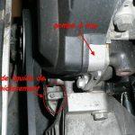Pompe a eau fuite liquide refroidissement