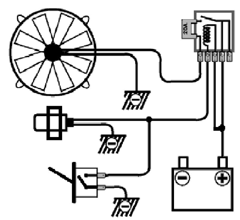schema electrique ventilateur de refroidissement