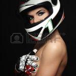 Casque moto et maquillage