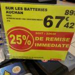 Batterie auto 70ah auchan