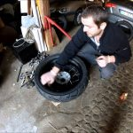 Monter pneu moto