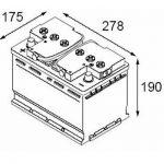 Batterie auto par dimension